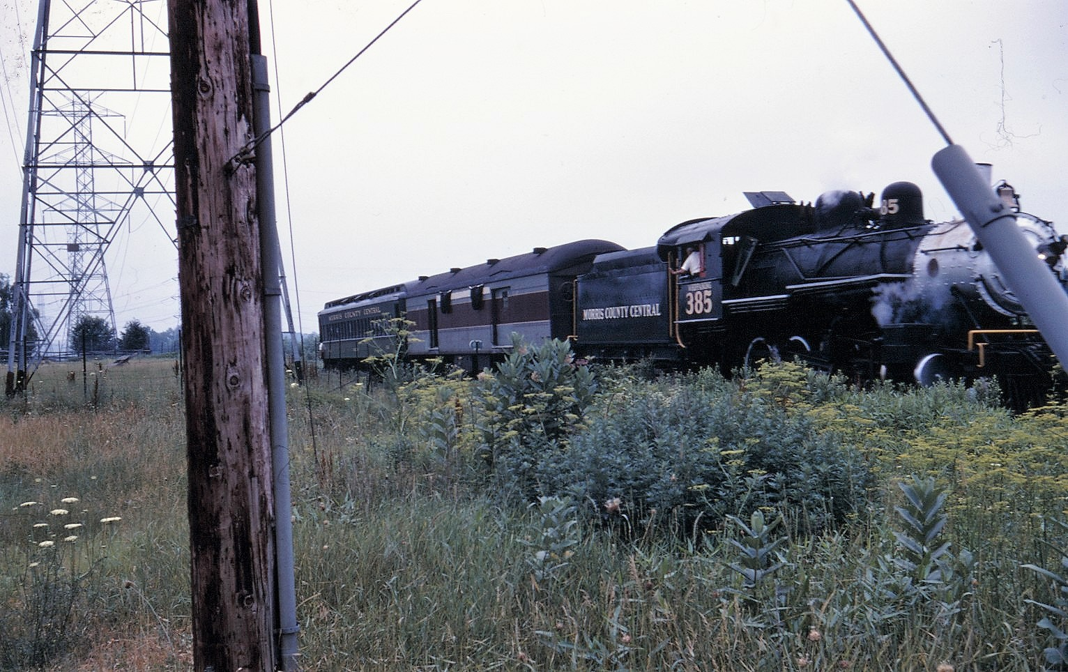 MCC Carlos H Gil funeral train 4 Ridgedale Ave. E.Hanover Andy Barbera backing train off roadway July 1968 SPH Coll