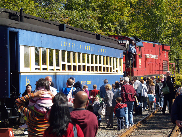 Passangers Boarding the Excursion Train