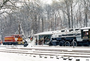 Whippay Railway Museum in Winter